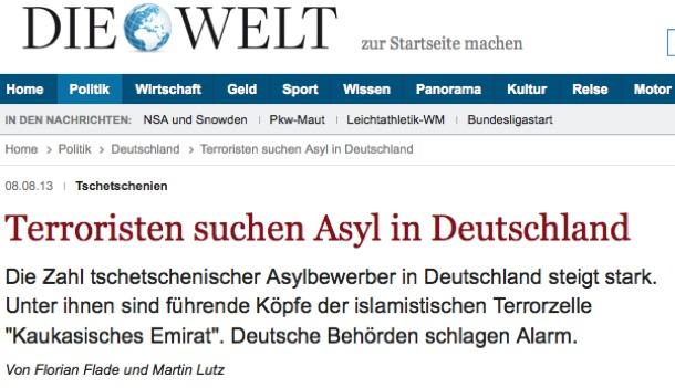 terroristen suchen asyl die welt