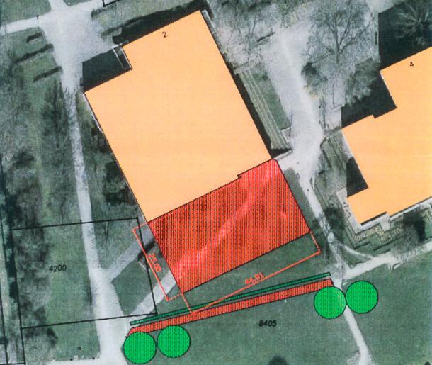 Der Anbau an der Südseite sei städtebaulich sinnvoller, heißt seitens der Stadtverwaltung. Auch die Mehrheit der Stadträte stimmte für diesen Vorschlag. Bild: Stadt Ladenburg