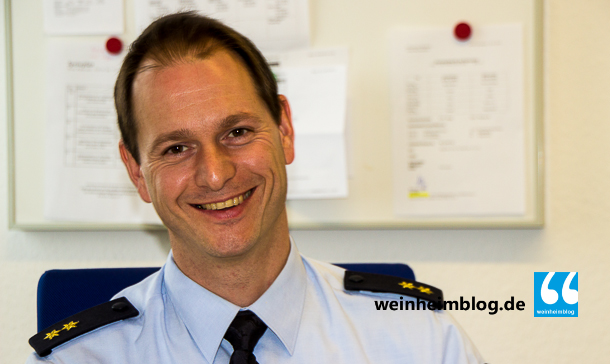 Polizeioberrat Holger Behrendt ist neuer Leiter des Polizeireviers Weinheim.